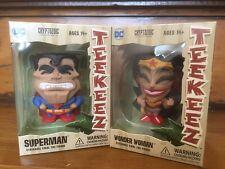 Wonder Woman & Superman DC Cryptozoic Teekeez Stackable Mini Figure Set NEW
