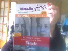 Reussite Bac  Histoire Term series ES.L 2014