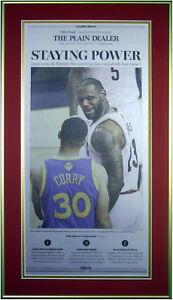 Cleveland Cavs Newspaper GM 6 of the NBA Finals 6-17-2016 STAYING POWER Framed!