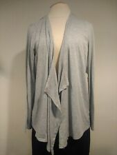 Jonathan Martin Woman's Open Front Top Size XL Gray Open Back Long Sleeve