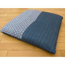 New Japanese Cushion Zabuton 55×59cm Blue Cotton Polyester from Japan
