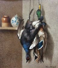 WILLIAM CRUICKSHANK , Watercolor, Still Life, Game Birds, Ducks, Signed, c.1880