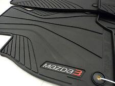 Mazda 3 Skyactiv 2014-2017 OEM Black All Weather Rubber Floor Mats 0000-8B-L82