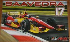 2014 Sebastian Saavedra AFS Chevy Dallara Indy Car postcard
