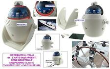 Marine compass CTW h.12 white with stand and light adjustable for ship &