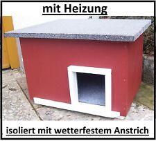 Katzenhaus mit Heizung Katzenhütte beheizt Hundehütte wetterfest isoliert