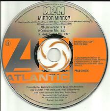 M2M Mirror Mirror w/ POWER DANCE & CROSSOVER MIXES PROMO Radio DJ CD Single USA