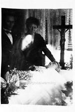 Photo.  1919.  Postmortem - Woman Mourning For Husband - Spirit Face