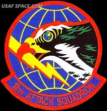 USAF 18th ATTACK SQUADRON - MQ-1 Predator- MQ-9 Reaper DRONES - ORIGINAL PATCH