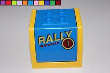Lego Duplo - Anhänger Aufsatz Container Rally - blau gelb Güterwaggon Eisenbahn