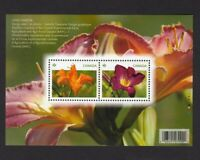 LILY = DAYLILIES = Souvenir Sheet of 2 stamps Canada 2012 #2526 MNH VF