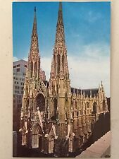 VINTAGE NEW YORK CITY ST. PATRICK'S CATHEDRAL 1957 POSTCARD