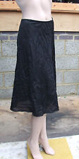 Black Faux Satin 12-14 Marvellous Half Length Slip FREE Post