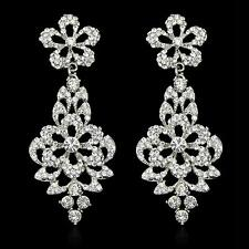 Women Jewelry Vintage Wedding Crystal Rhinestone Dangle Drop Chandelier Earrings