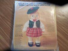 NIP Vintage 1980 Campbell Kid GIRL Doll Kit  w Red Plaid Skirt*Green Vest &Tam