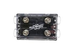 Sky High Car Audio DUAL ANL Fuse Holder Ring Terminal Style Double 1/0 ga 4 ga