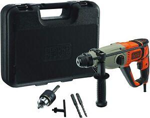 BLACK+DECKER Marteau perforateur 800W SDS+ 2 forets béton SDS+ (6 et 8mm) Neuf