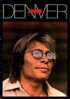 JOHN DENVER 1980 AUTOGRAPH U.S. TOUR CONCERT PROGRAM BOOK BOOKLET / VG 2 EX