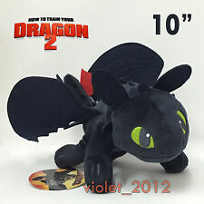"""How to Train Your Dragon 2 Toothless Plush Night Fury Soft Toy Stuffed Teddy 10"""""""