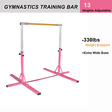 Junior Training Gymnastics Bar Kip Gym Sport, 13 Optional Height Pink Adjustable