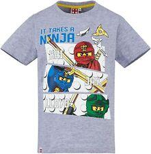 Lego NINJAGO original + neu Jungen Gr.128 grau Ninja T-Shirt Legowear P06-13