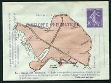 France pneumatic postal stationery env. 1910 Marseille 30c RU16 un (cat €400)