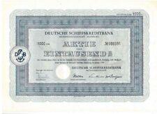 Deutsche Schiffskreditbank AG 1000DM Duisburg  1954