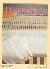 Handwoven magazine Mar/Apr 1985 - Linen Towels, Rugs