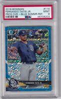 2018 Bowman Chrome Prospects Blue Shimmer Fernando Tatis Jr. /150 PSA 9
