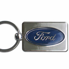 Ford Oval Chrome Key Chain Officially Licensed FK7
