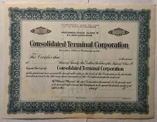 Consolidated Terminal Corporation blank Shares Stock Certificate
