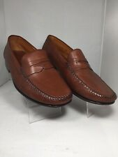 "COLE HAAN "" Resort"" Brown leather Penny Loafers Driving Shoes ITALY Sz US 8 EE"