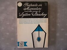 Portraits in Miniature & Other Essays Lytton Strachey 1962 Urbane Dispassionate