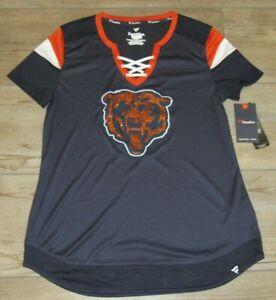 Chicago Bears Fanatics Glitter Draft Me Sexy Shirt Lace-up Jersey Women's Medium