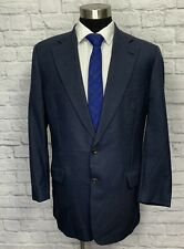 Paul Stuart Mens Navy Blue Wool Sport Coat Blazer 44L