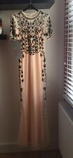 Brand New, Asos Baroque Embellished Fishtail Maxi Dress, Nude, Size 6