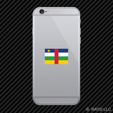 Central African Republic Flag Cell Phone Sticker Mobile CAR CF CAF