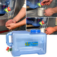 12 Gallon Transparent Water Storage Container Travel Outdoor Camping Picnic