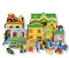 Sesame Street Mr Hoopers Store Discover ABC's Trucks Train Bus 19 Figures Lot