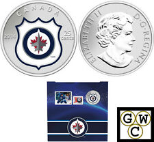 2014 'Winnipeg Jets - NHL Hockey' Colorized 25-Cent Coin & Stamp Set (13314)