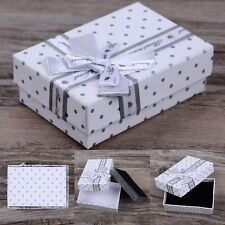 5Pcs Lots Jewelry Gift Paper Boxes Ring Earring Necklace Watch Bracelet Box Case