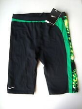 NIKE Green Performance SOLAR CANOPY Jammer Men's $54.00 Swimsuit NWT Size 32