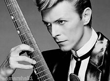 David Bowie B & W #1 Pop Rock Star 10 x 13.5 inches  Advertisement Poster