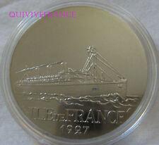 MED5828 - MEDAILLE Les Grands Transatlantiques, Ile de France 1927 - en capsule