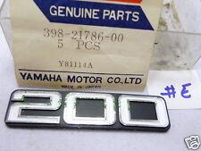 Yamaha RD200 Side Cover Badge NOS Genuine Tank Emblem 398-21786-00 YCS5 CS5 #E