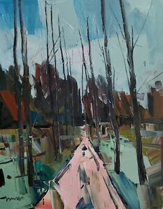 JOSE TRUJILLO Oil Painting IMPRESSIONISM LARGE 16X20 COLLECTIBLE FINE ART SIGNED