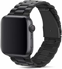 Tasikar para Correa Apple Watch 42mm 44mm Metal de Acero Inoxidable  (Negro)