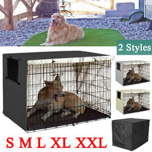 Dog Pet Cage Crate Cover 6 sizes Outdoor Heavy Duty Kennel House Cover Protector