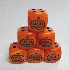 *6* CUSTOM JACK O'LANTERNS- 16mm VORTEX ORANGE w/BLACK PUMPKIN AS #1 & BLK PIPS!