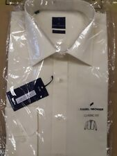 MEN'S DANIEL HECHTER WHITE LONG SLEEVE SHIRT SINGLE CUFF SIZE 18